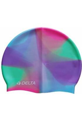 Delta Delta Havuz ve Deniz Bonesi Silikon Kaliteli - Gökkuşağı
