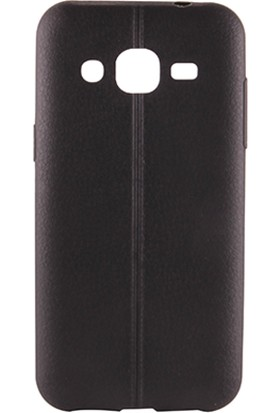Sunix Vizyonmobil Samsung Galaxy J1 Dikişli Silikon Kılıf + Selfie Çubuğu