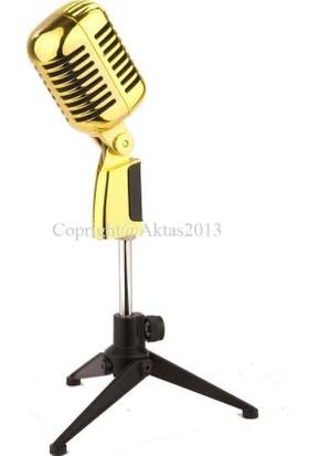 D-Sound Ds-55G Gold (Altın) Nostalji Mikrofon
