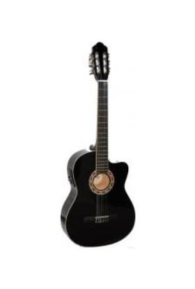 Carissa Cg-160Ce Bk (Siyah Renk)Elektro Klasik Gitar