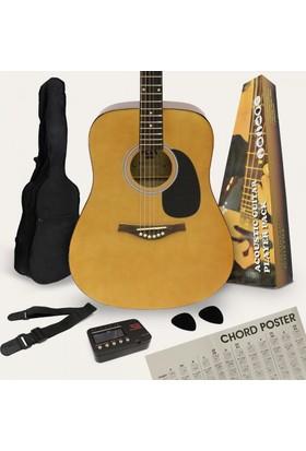 Rosa PF10N Akustik Gitar Paketi