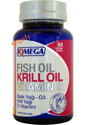 Iqmega Balık Yağı Krill Yağı Vitamin D 60 Softgel