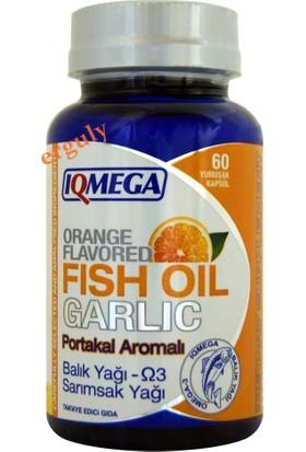 Iqmega Balık Yağı Sarımsak Yağı Portakal Aromalı 60 Softgel