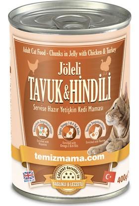 Temizmama Jöleli Tavuk Ve Hindili Yaş Kedi Maması 400 gr