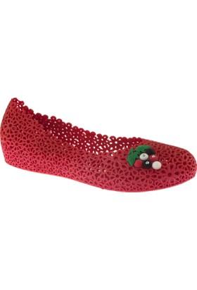 Muya 90475 Uzum Toka Kırmızı Kadın Babet