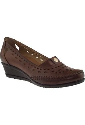 Muya 92014 Deri Taba Kadın Ayakkabı