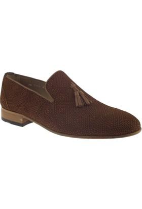 Fosco 7126 Mokasen Klasik Taba Erkek Ayakkabı