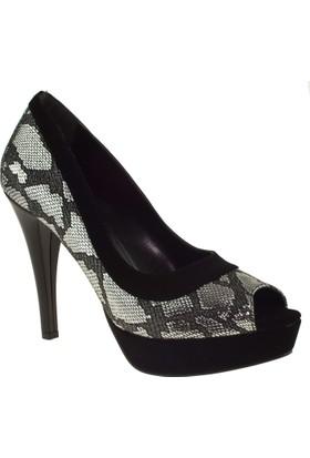 Ali Solmaz 3093 Topuklu Siyah Kadın Abiye Ayakkabı