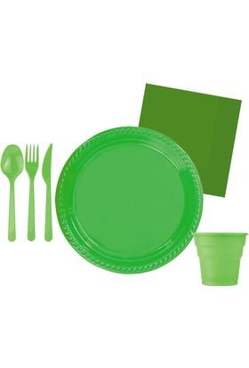 Kullanatmarket Yeşil Parti Seti 10 Kişilik