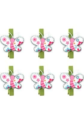 Kullanatmarket Kelebek Temali Mandal 6 Li