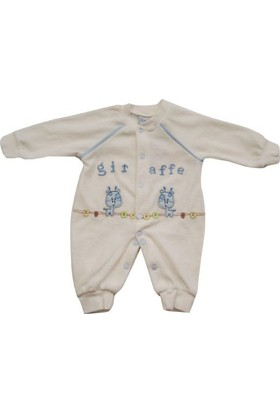 Sebi Bebe 52308 Zürafalı Kadife Patiksiz Tulum
