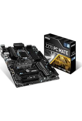 MSI Z270 PC MATE Intel Z270 3200MHz+ (OC) DDR4 Soket 1151 ATX Anakart