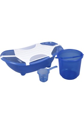 Norfolk Muju Muju Baby Shower Bebek Banyo Küvet Seti - 4'lü Küvet Seti - Şeffaf Mavi