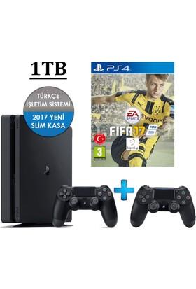 Playstation 4 Slim 1TB + 2. Kol + Fifa 17 (İthalatçı Garantili)