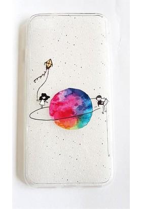 Köstebek Saturn Üstünde Yürüyen Kız I Phone 7 Telefon Kılıfı