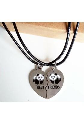Köstebek Panda Best Friend 2'Li Bff Kolye