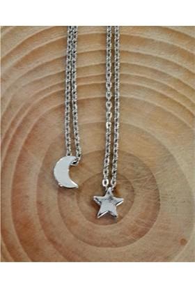 Köstebek Best Friends Moon And Star Kolye