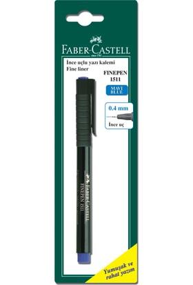 Faber Castell Bls. Finepen 1511, 0,4mm, Mavi, Tekli