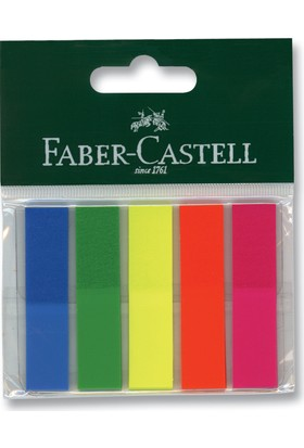 Faber Castell Bls. Yapışkan Ayraç, 5 Renk