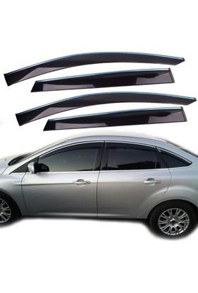 Nettedarikcisi Sunplex Ford Focus Sedan 2011 Sonrası Ön Arka 6 Parça Cam Rüzgarlığı Kromlu Mugen Tip Sunplex