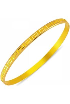 Duman 14 Ayar Altın 4.50 Gr Hediyelik Bilezik Tasarım Sgb42-67378