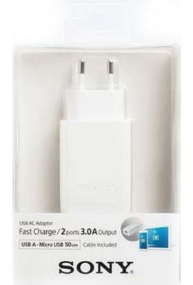 Sony CP-AD2M2 Universal Usb AC Şarj Cihazı (2 Çıkışlı) - Beyaz