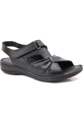 Comfort Ortopedik Hakiki Deri Kadın Sandalet