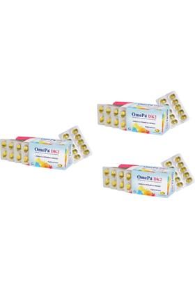 Tab İlaç Omepa Dk2 - Vitamin D7 + Mena Q7 - 50 Yumuşak Kapsül - 3 Kutu