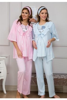 Baha Lohusa 3'Lü Pijama Takım 3104 Pembe
