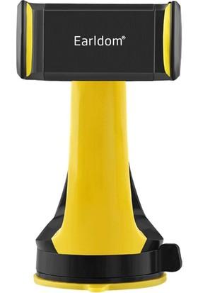 Cepium Earldom Universal Araç İçi Mobil Telefon Tutucu - 360 Derece Serbest Dönebilme-Siyah-Sarı - EH-03s