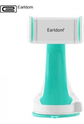 Cepium Earldom Universal Araç İçi Mobil Telefon Tutucu - 360 Derece Serbest Dönebilme-Beyaz_Turkuaz - EH-03t