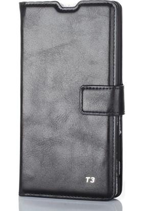 Gpack Sony Xperia T3 Kılıf Standlı Serenity Cüzdan