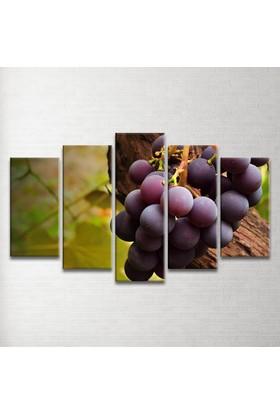 Plustablo Üzümler 5 Parça Kanvas Tablo