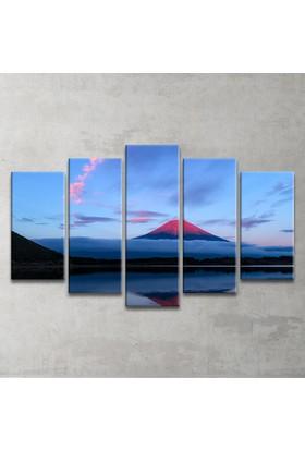 Plustablo Doğa Manzaralı 5 Parça Kanvas Tablo