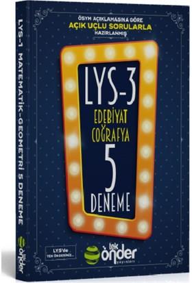 Tek Önder Yayınları Lys 3 Beşli Deneme Sınavı Açık Uçlu-Kısa Cevaplı Sorularla