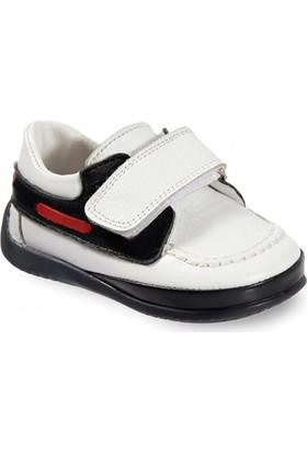 Vicco Cırtlı İlk Adım Deri Ayakkabı Beyaz
