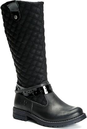Vicco Patik Deri Çizme Siyah