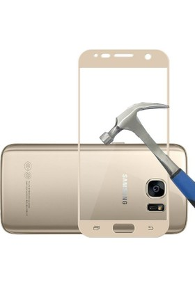 Teleplus Samsung Galaxy S7 Temperli Cam Ekran Koruyucu Full Kaplayan Gold