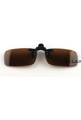 Soleo Clip-On Medium Brown Unisex Güneş Gözlüğü