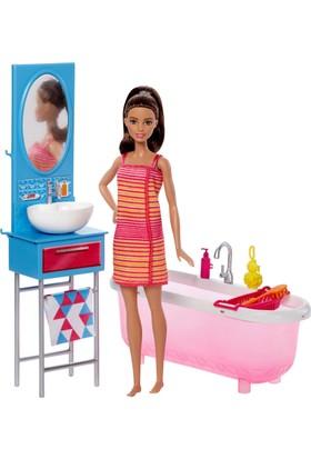 Barbie Bebek Ve Banyo Oyun Seti DVX53