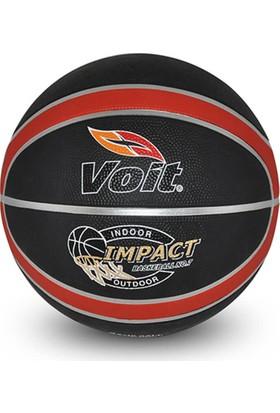 Voit Impact Basketbol Topu Siyah Kırmızı N7