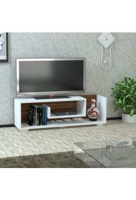 Kalender Dekor Junıor Tv Sehpası Beyaz-Ceviz