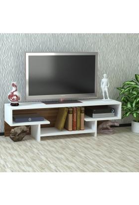 Kalender Dekor Alanson Tv Sehpası Beyaz-Ceviz