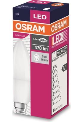 Osram 5,7 Watt E-14 İnce Duy 6400 Kelvın Buji Led Ampul