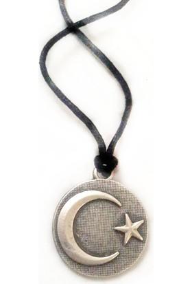 Simperi Ay yıldız kolye