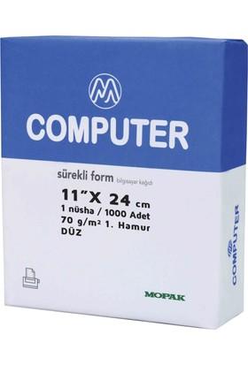 Mopak Bilgisayar Kağıdı 11x24/70gr.1n Düz 1000'lı