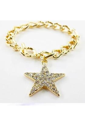 Bijustore Zirkon Taş Yıldız Bileklik