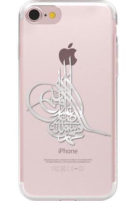 Remeto Apple iPhone 7 Osmanlı Tuğra Resimli Şeffaf Silikon Kılıf