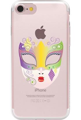 Remeto Apple iPhone 7 Maske Resimli Şeffaf Silikon Kılıf