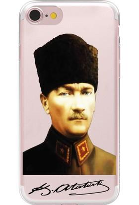 Remeto Apple iPhone 6 Atatürk Portresi ve İmzası Resimli Şeffaf Silikon Kılıf